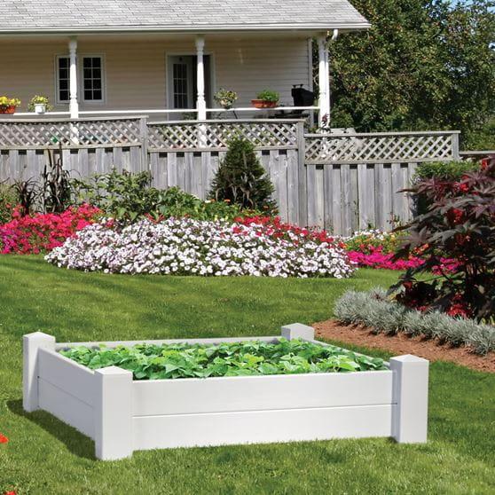 Vinyl Raised Garden Bed 4 Ft X 4 Ft Yard Amp Home