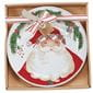 Santa plate in box packaging with string.