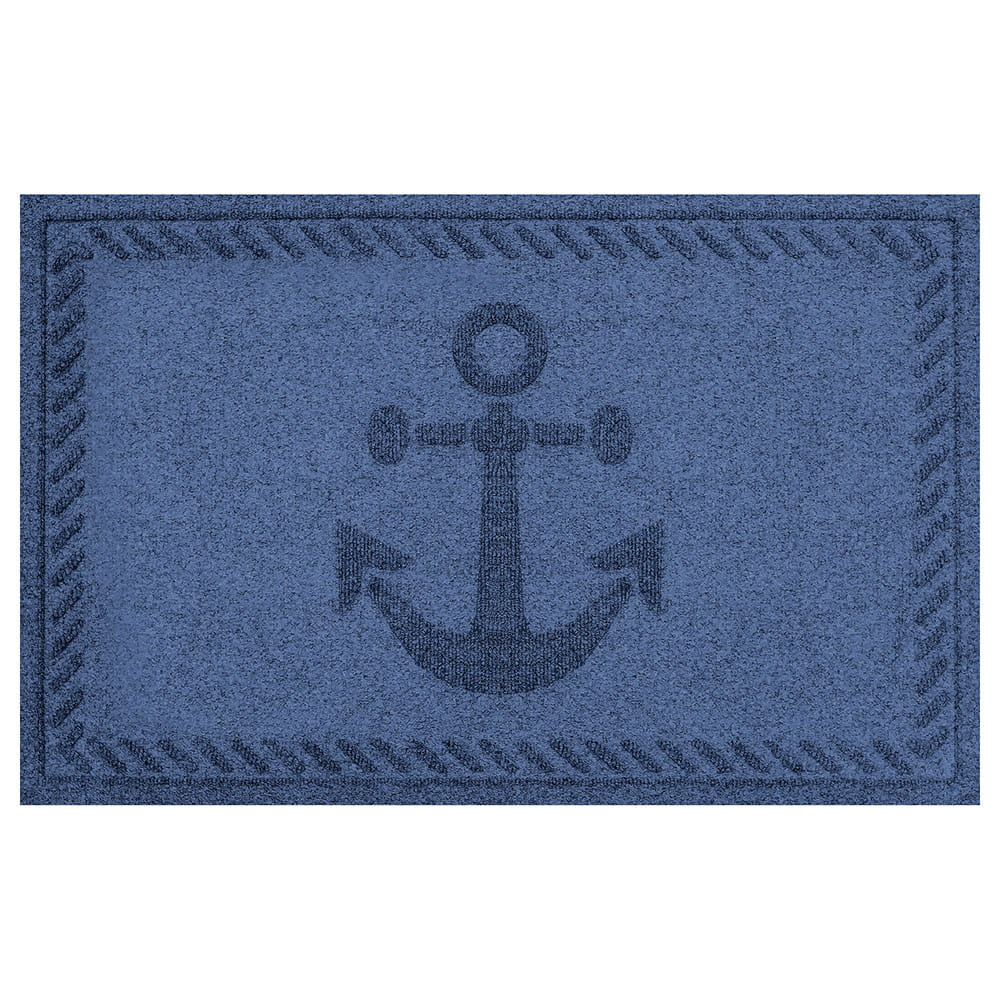 Anchor 2 by 3 navy mat