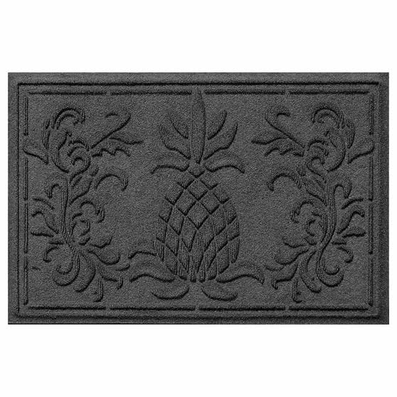 Boca pineapple 2 by 3 charcoal mat
