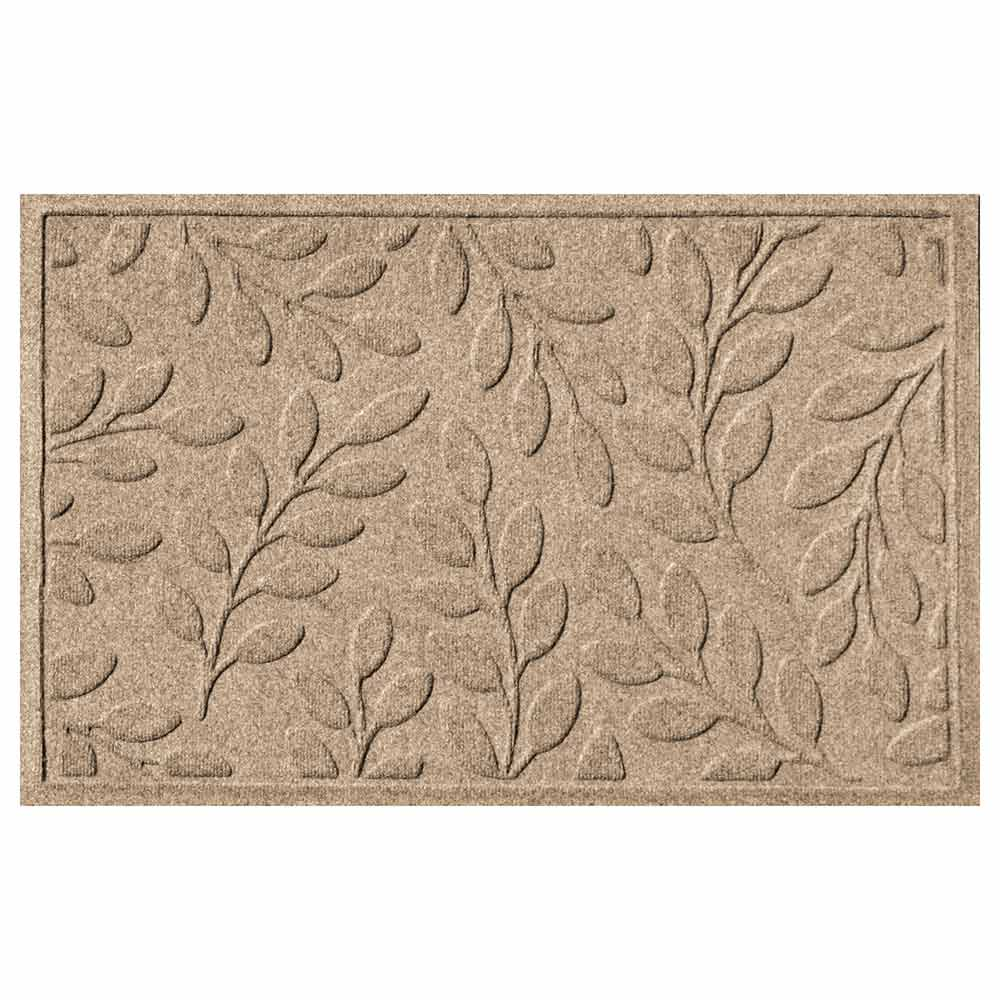 Brittney Leaf 2 by 3 camel mat