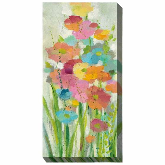 multi-colored bunch of flowers in bloom print on canvas