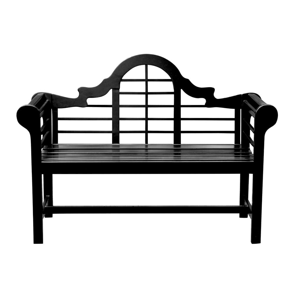 achla lutyens black bench on white background