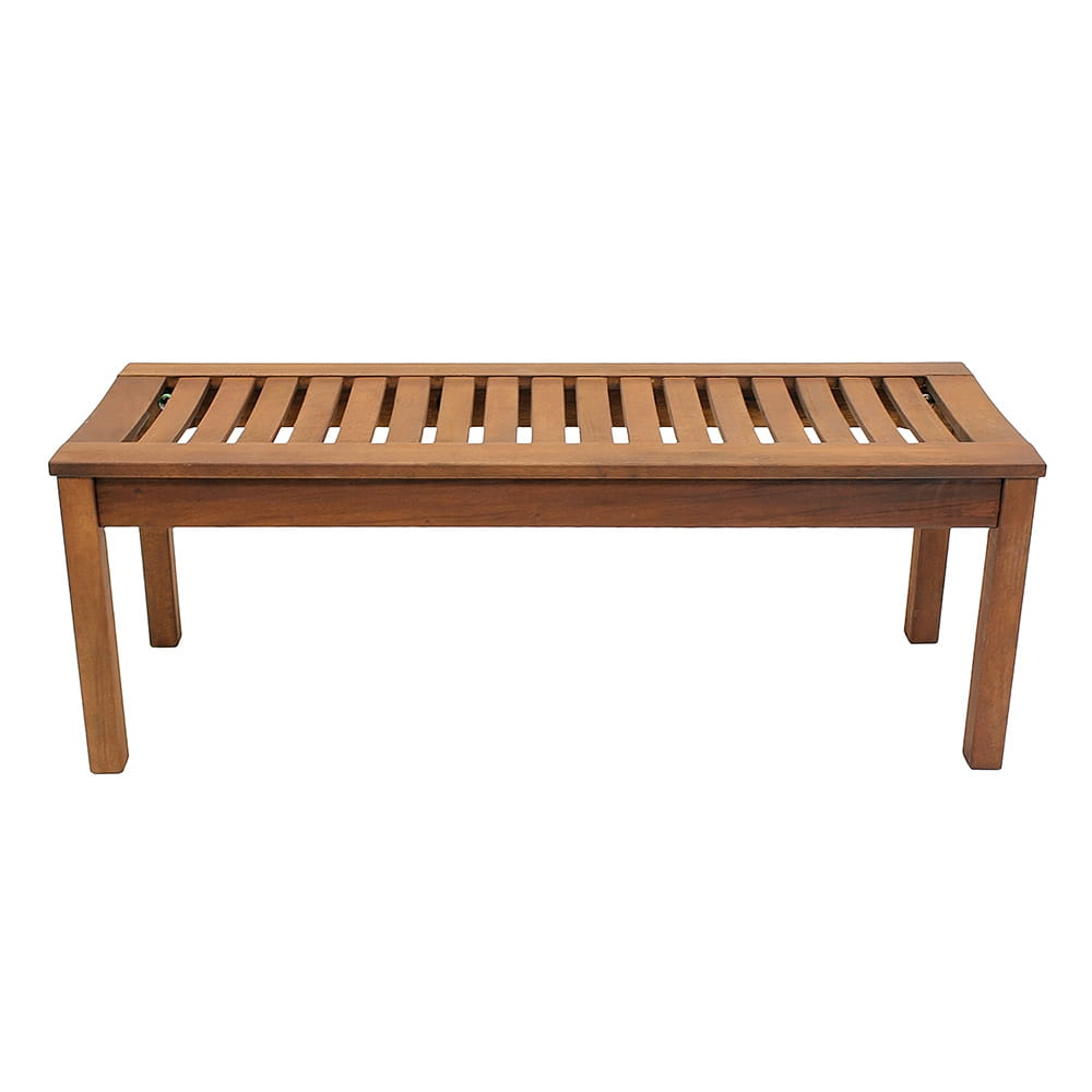 achla backless bench on white background