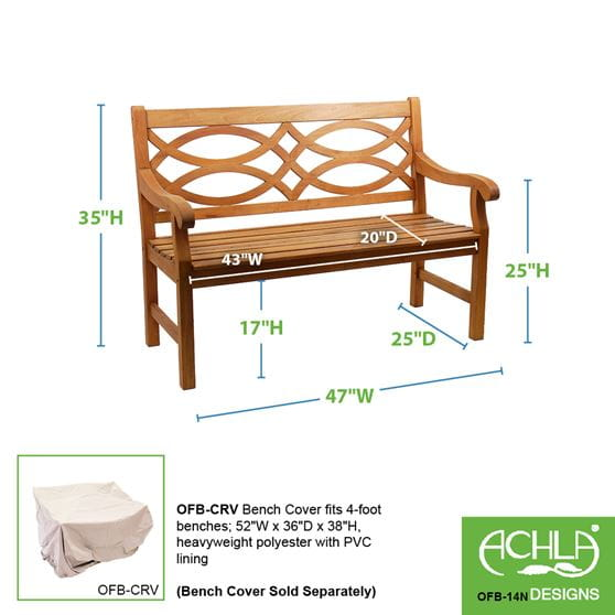 Hennell Wooden Outdoor Bench Yard Amp Home