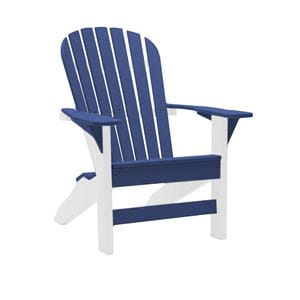white and royal blue fireside two-tone grand adirondack chair