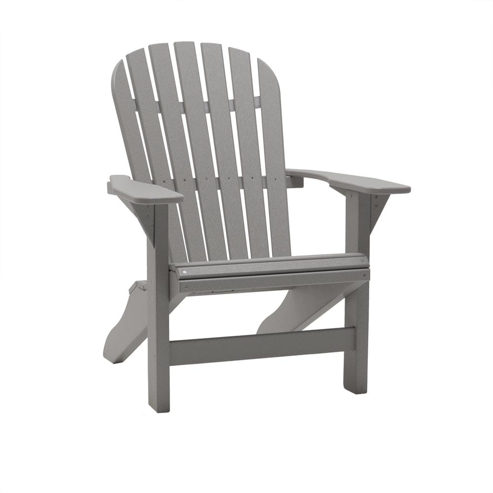 light gray fireside roll adirondack chair