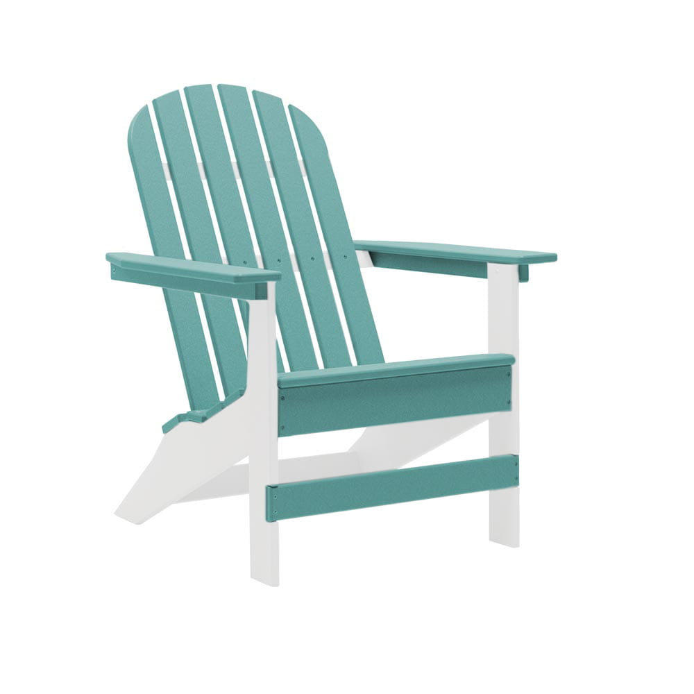 white and aqua hearthside two-toned adirondack chair