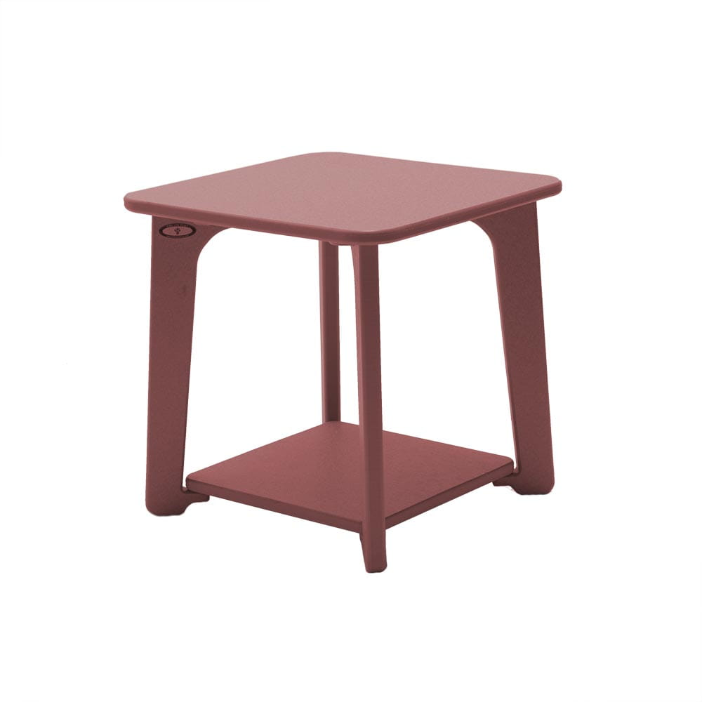cherry wood modern outdoor side table