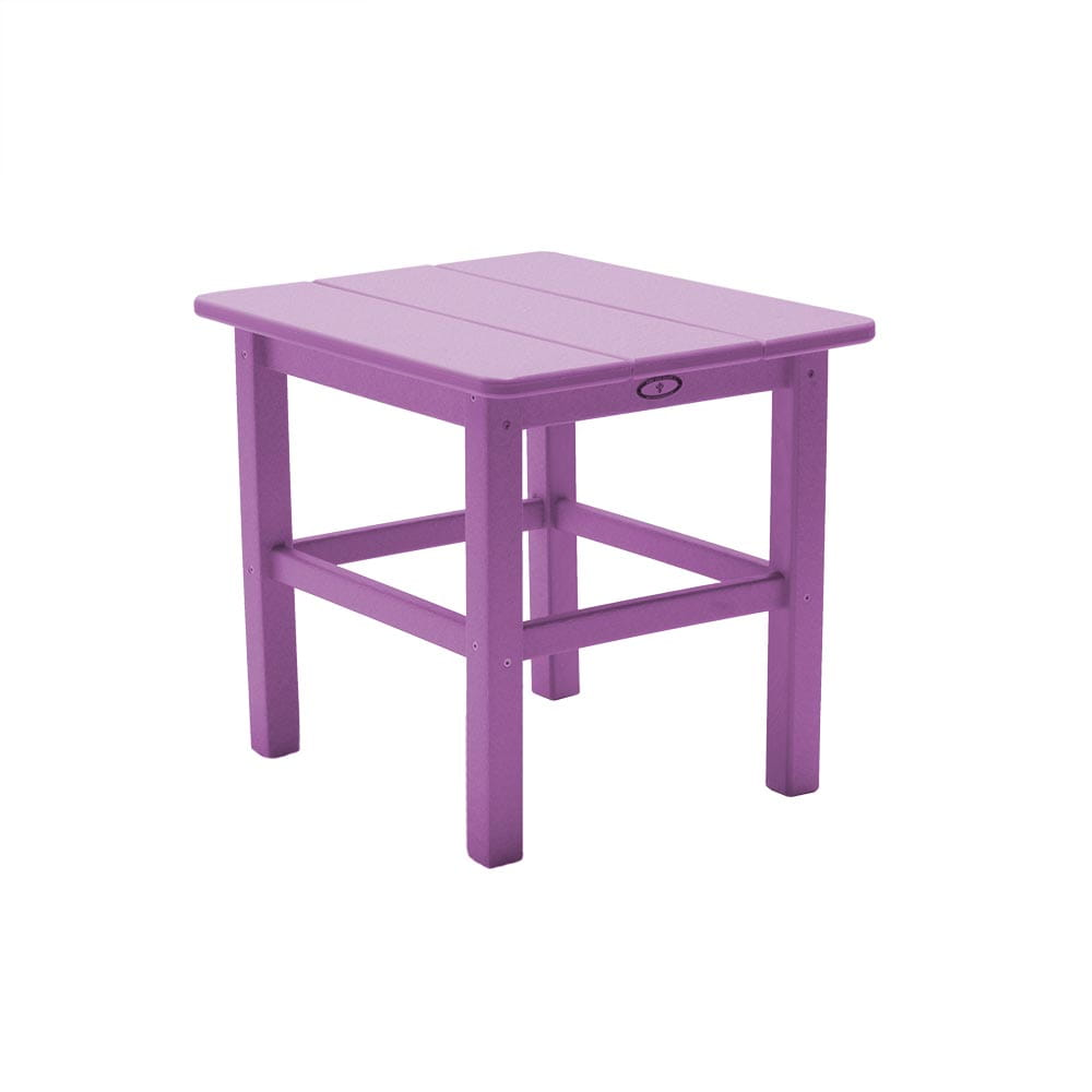 purple traditional outdoor side table