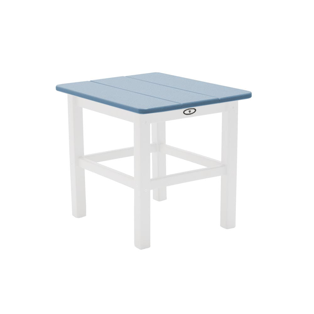 white and honolulu traditional two-tone outdoor side table