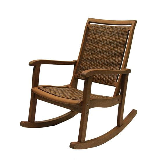 Wood Amp Wicker Outdoor Rocking Chair Yard Amp Home