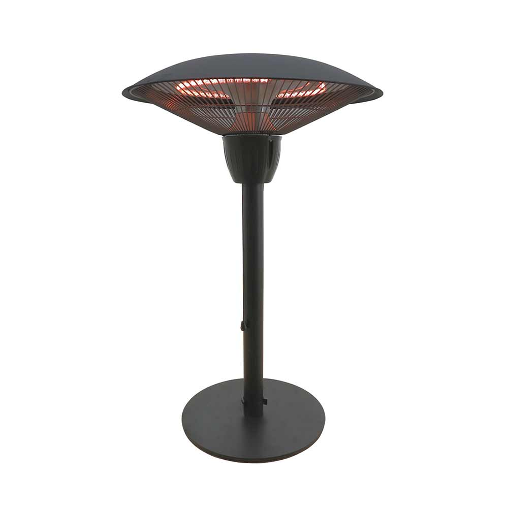 black tabletop heater