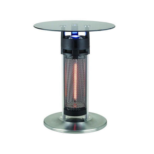 black bistro table heater