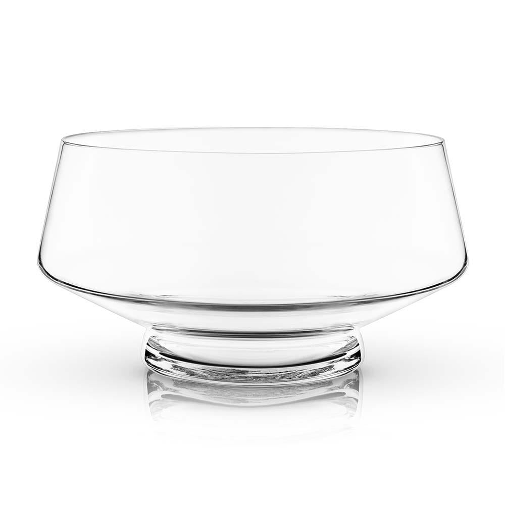 Footed punch bowl with a white background